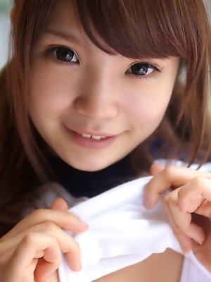 Manami Sato Asian in sports equipment can´t wait to play ball