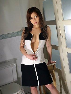 Ryo Uehara shows her sexy body posing nude for some hot shots